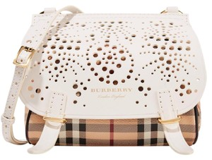 Burberry Check Perforated Laser Cut Shoulder Bag