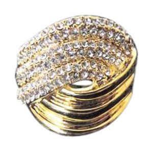 Real Collectibles by Adrienne Real Collectibles by Adrienne Vintage-Inspired Pave Wave Ring 9