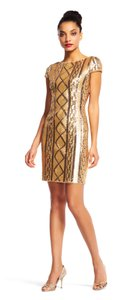 Adrianna Papell Cable Knit Sequin Cocktail Dress