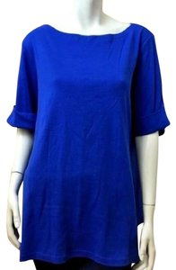 Karen Scott Plus-size T Shirt Blue