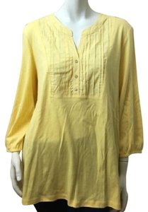 Karen Scott Plus-size T Shirt Yellow