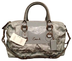 Coach Satchel in Slate Blue