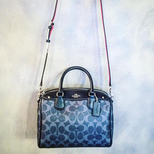 Coach Satchel in blue and red Image 1