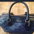 Coach Satchel in blue and red Image 2