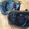 Coach Satchel in blue and red Image 3