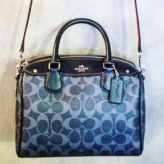 Coach Satchel in blue and red Image 4