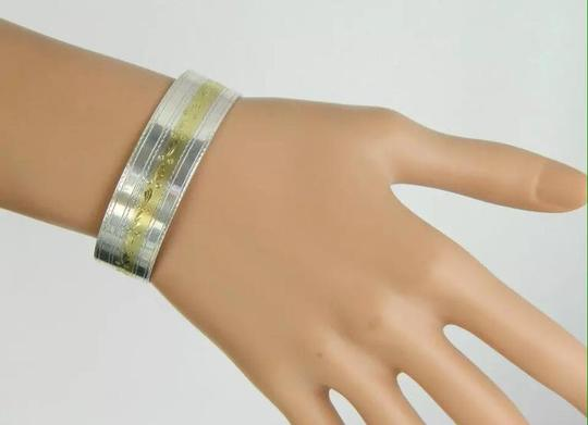 Simmons sterling 14k yellow gold cuff bracelet Image 1