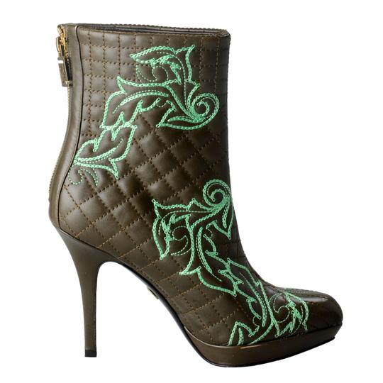 Versace OLive Green / Green Boots Image 1