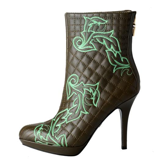 Versace OLive Green / Green Boots Image 2