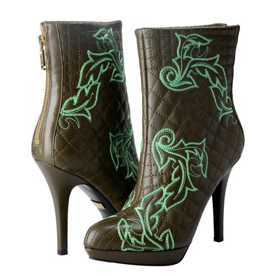 Versace OLive Green / Green Boots Image 7