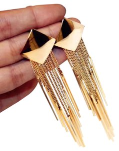 Other silver gold plated tassel Earrings