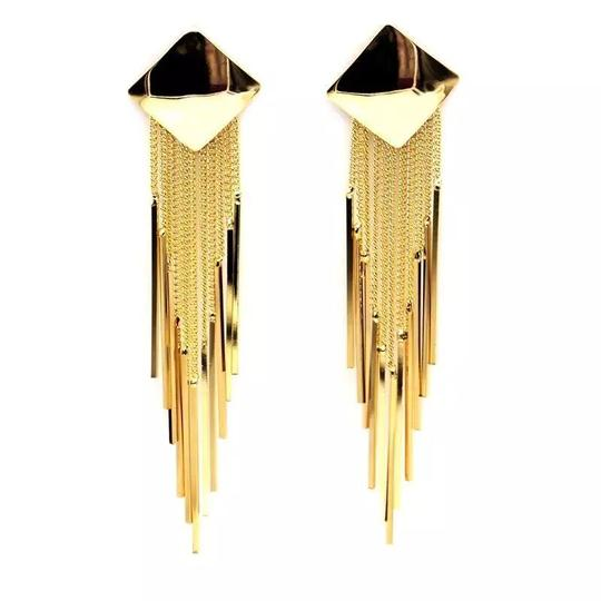 Other silver gold plated tassel Earrings Image 1