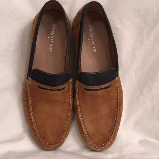 Donald J. Pliner Leather Suede Loafers Slip Ons Men's Brown Black Flats Image 1