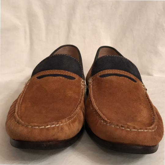 Donald J. Pliner Leather Suede Loafers Slip Ons Men's Brown Black Flats Image 2
