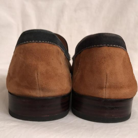 Donald J. Pliner Leather Suede Loafers Slip Ons Men's Brown Black Flats Image 4