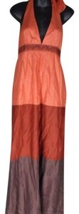 orange/red/brown Maxi Dress by BCBG Paris