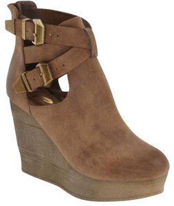 Sbicca Wedge Javiera TAN Boots
