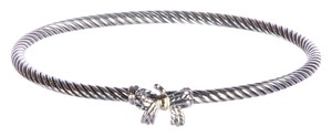 David Yurman Cable Collectibles Ribbon Bracelet w/ 18K Gold 3mm Sz Medium $395 NWOT