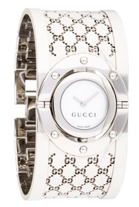 Gucci Stainless steel 33mm Gucci Guccissima monogram Twirl Watch