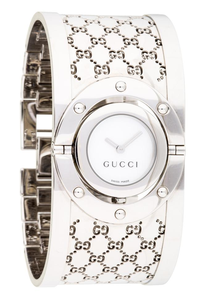 cb4230744a2 Gucci Stainless steel 33mm Gucci Guccissima monogram Twirl Watch Image 0 ...