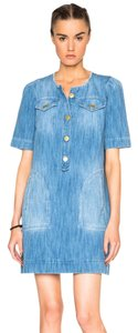toile Isabel Marant short dress Denim blue Denim Oriane on Tradesy