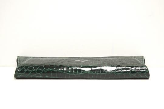 Domenico Vacca Structured Green Clutch Image 1