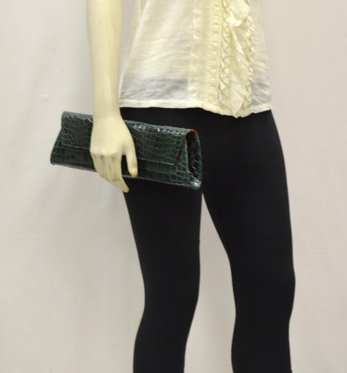 Domenico Vacca Structured Green Clutch Image 2
