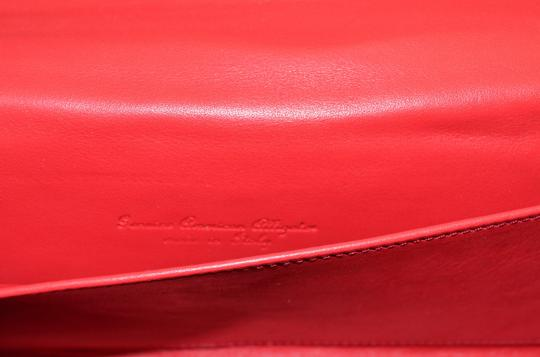 Domenico Vacca Structured Green Clutch Image 5
