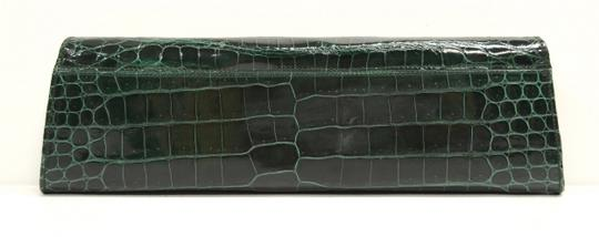 Domenico Vacca Structured Green Clutch Image 7
