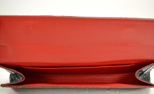 Domenico Vacca Structured Green Clutch Image 8