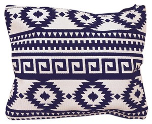 Other Tribal Print Make Up Black & White Clutch