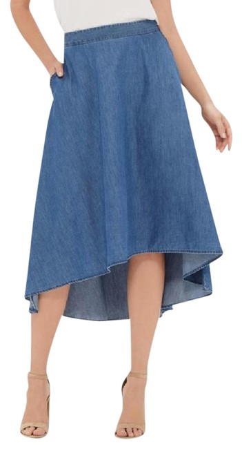 Preload https://img-static.tradesy.com/item/21355459/the-limited-blue-hi-low-chambray-midi-skirt-size-12-l-32-33-0-1-650-650.jpg