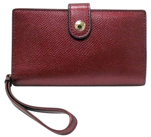 Coach NWT - Metallic Cherry Leather Bi-Fold Wallet/Wristlet - Gift Box