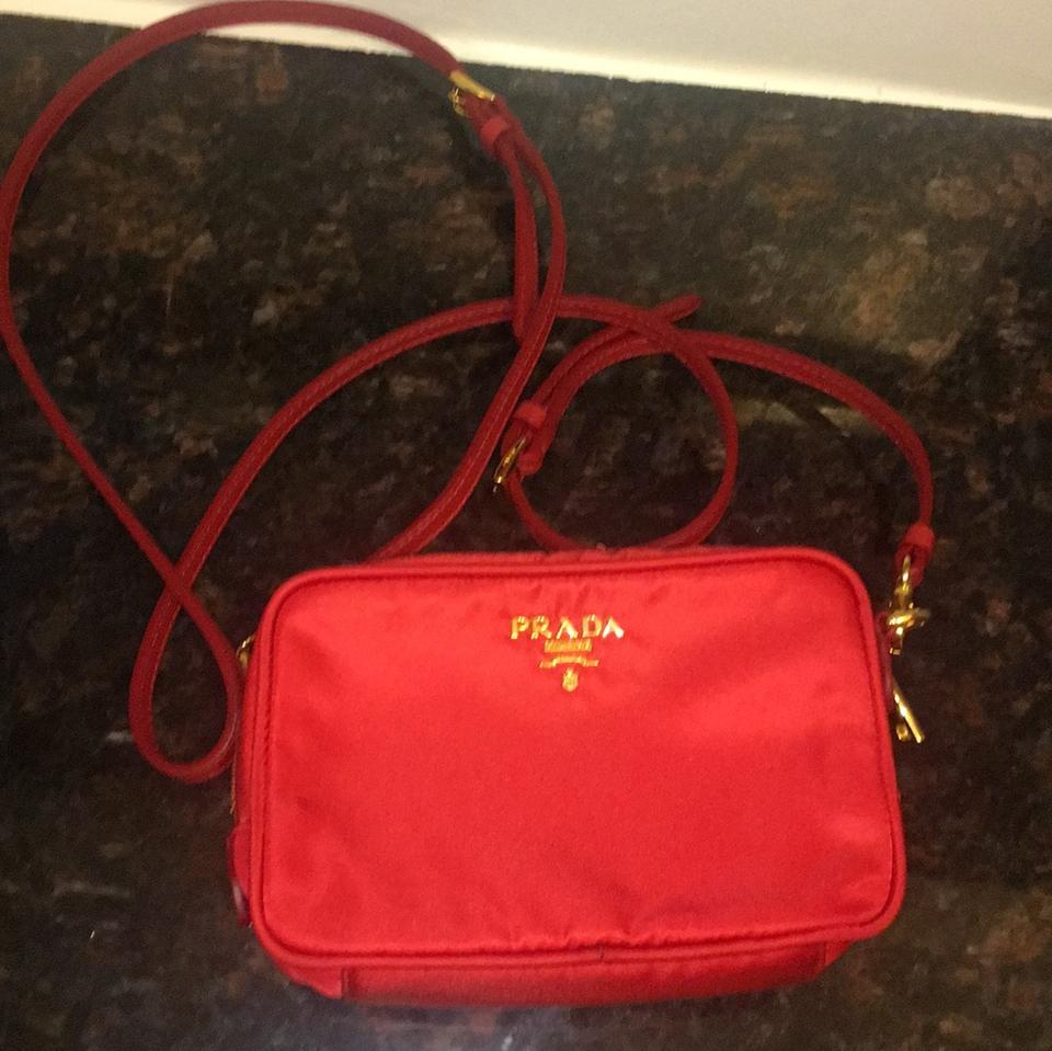 e362cfce0697 Prada Tessuyp 1n1675 Red Nylon Cross Body Bag - Tradesy