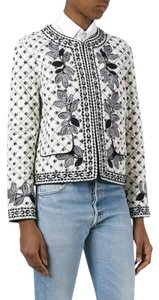Tory Burch Nautical Quilted Summer Off white Ivory Jacket