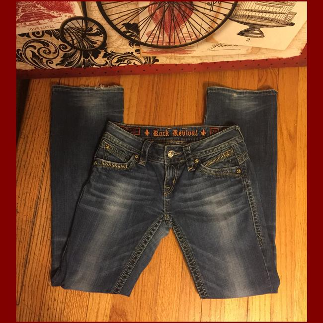 Rock Revival Boot Cut Jeans-Distressed Image 1
