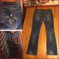 Rock Revival Boot Cut Jeans-Distressed Image 3