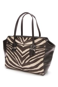 Coach Tote in Black, beige