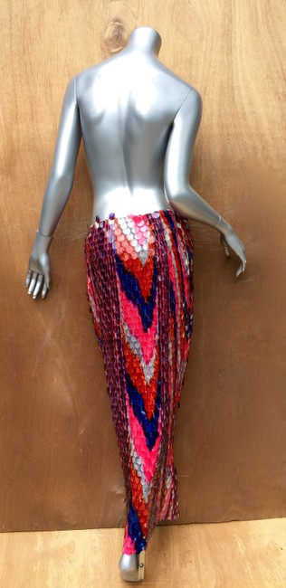 designer couture Maxi Skirt red white and blue Image 1