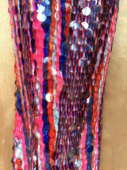 designer couture Maxi Skirt red white and blue Image 7