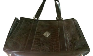 Coldwater Creek Classic Stylish Large All Tote in dark brown