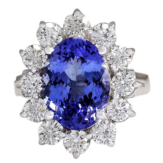 Preload https://img-static.tradesy.com/item/21355966/598ctw-natural-blue-tanzanite-and-diamond-14k-solid-white-gold-ring-0-0-540-540.jpg