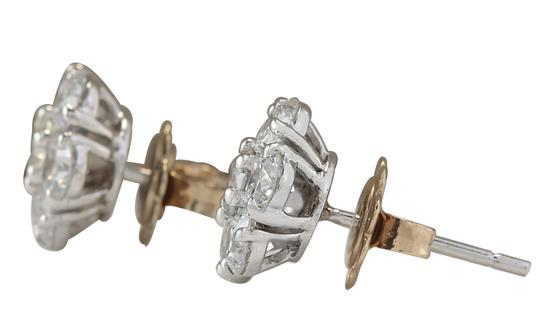 Fashion Strada 2.80CTW Natural Diamond Earrings 14K Solid White Gold Image 1