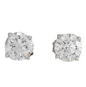 Fashion Strada 1.00CTW Natural Diamond Earrings 14K Solid White Gold