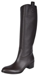 Gucci Riding Leather Brown Boots
