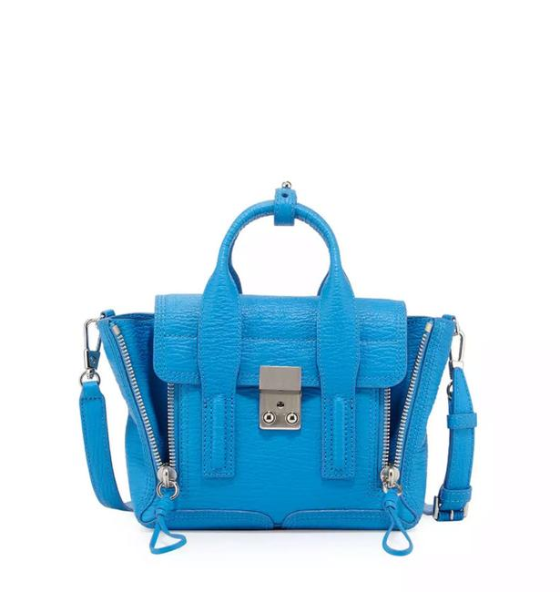 Item - Mini Pashli Satchel Cyan Blue Leather Shoulder Bag