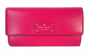 Kate Spade NY Jean Wellesley Flap Leather Wallet Clutch NWT Sweetheart Pink