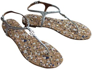 13e22072ee7de5 Silver Tory Burch Sandals - Up to 90% off at Tradesy