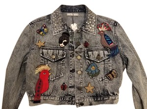 Alice + Olivia Womens Jean Jacket