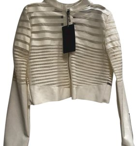 Yoki cream Leather Jacket
